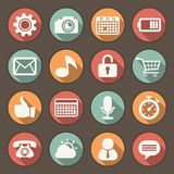 Flat icons set for Web and Mobile Applications Stock Photography