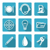 Flat icons set Royalty Free Stock Photography