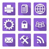 Flat icons set Stock Photo