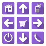 Flat icons set Royalty Free Stock Image