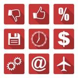 Flat icons set Royalty Free Stock Photos