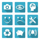 Flat icons set Royalty Free Stock Photo