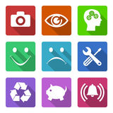 Flat icons set Stock Photography