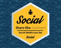 Flat icons in a speech bubble shape: technology, social media, network, link computer concept. Abstract background group of elemen Royalty Free Stock Images