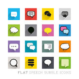 Flat Icons - Speech Bubbles Royalty Free Stock Image