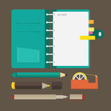 Flat Icons Stationary Royalty Free Stock Image