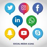 Flat icons technology, social media, network, computer concept. Abstract background with objects group of elements. star smiley f. Ace sale. Share, Like, Comment Stock Illustration