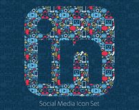 Linked in Social Media Icons Stock Image