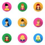 Flat icons templates women Stock Photos