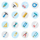 Flat Icons For Tools Related Icons Vector Illustration Stock Image