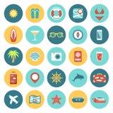 Flat icons Travel set Royalty Free Stock Photos