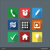 Flat icons. Flat ui icons for phone Stock Photos