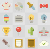 Flat Icons Royalty Free Stock Photo