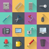 Flat icons. Various flat icons. File is in eps10 format Royalty Free Stock Photo