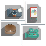 Flat icons vector design isolated on white background Stock Photo