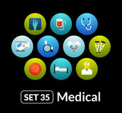 Flat icons vector set 35 - medical collection Royalty Free Stock Photos