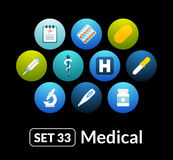 Flat icons vector set 33 - medical collection Stock Photo