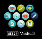 Flat icons vector set 34 - medical collection Royalty Free Stock Photography