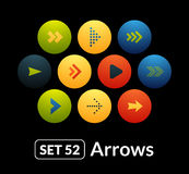 Flat icons vector set 52 - signs arrows Royalty Free Stock Photography