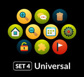 Flat icons vector set 4 - universal collection Royalty Free Stock Photography