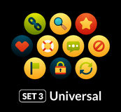 Flat icons vector set 3 - universal collection Royalty Free Stock Photos