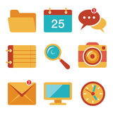 Flat icons vector set 3 Stock Image