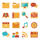 Flat icons vector set 4 Stock Image