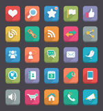 Flat Icons royalty free illustration