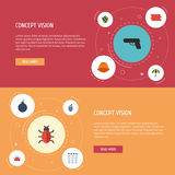 Flat Icons Virus, Hardhat, Keypad And Other Vector Elements. Set Of Security Flat Icons Symbols Also Includes Shot Stock Photography