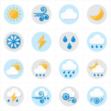 Flat Icons Weather Icons Vector Illustration Stock Image