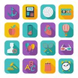 Flat icons for Web Design Royalty Free Stock Photo