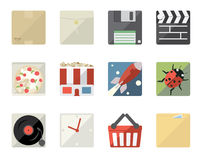 Flat Icons for Web and Mobile Stock Images