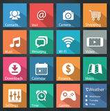Flat icons. For web and mobile applications Royalty Free Stock Photos