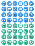 Flat icons for web and mobile applications Royalty Free Stock Images