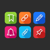 Flat icons for web and mobile applications Stock Photo