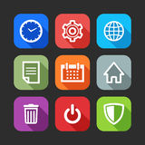 Flat icons for web and mobile applications Stock Images