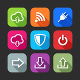Flat icons for web and mobile applications Stock Photography