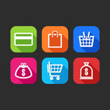 Flat icons for web and mobile applications Royalty Free Stock Photo