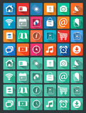 Flat icons for web and mobile applications Royalty Free Stock Image