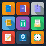 Flat Icons for Web and Mobile Applications Royalty Free Stock Photos