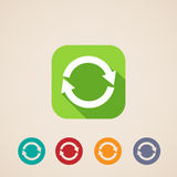 Flat icons for web and mobile applications with reload arrows Stock Image
