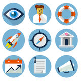 Flat Icons for Web and Mobile Applications Stock Photos