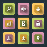 Flat icons for web and mobile Stock Photo