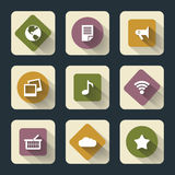 Flat icons for web and mobile Royalty Free Stock Photos