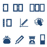 Flat icons for window service Stock Photos