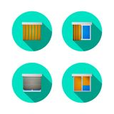 Flat icons for windows with louvers Royalty Free Stock Images