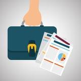 Flat illustration about achievement design Stock Photography
