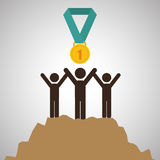 Flat illustration about achievement design Royalty Free Stock Image