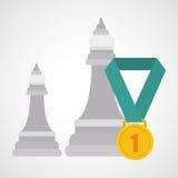 Flat illustration about achievement design Stock Photos