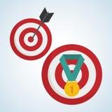 Flat illustration about achievement design Royalty Free Stock Photos